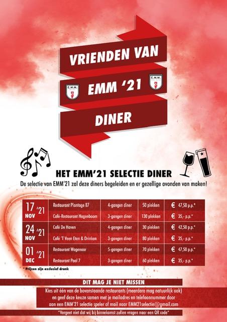 Vrienden van EMM '21 diner