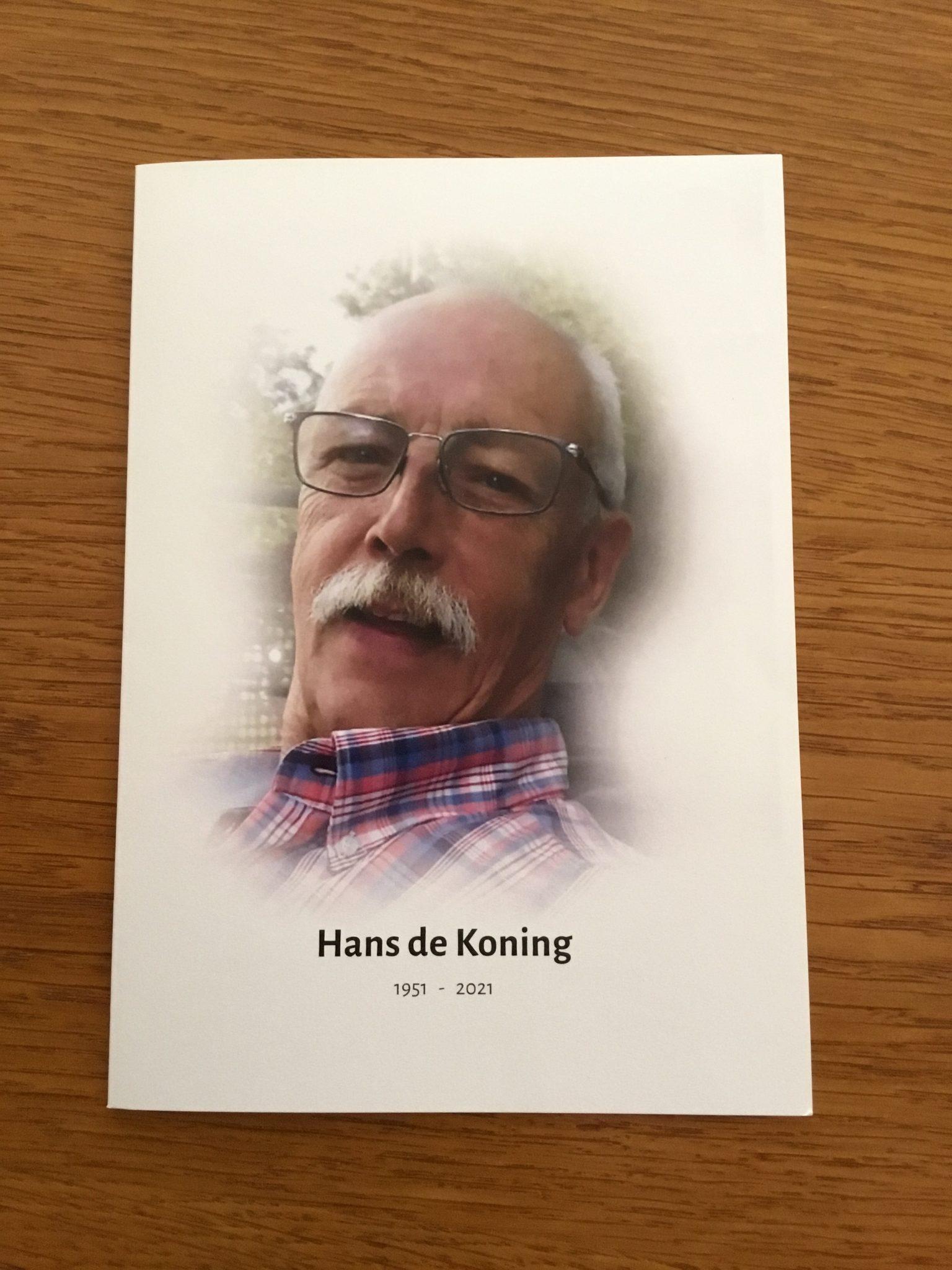 Lid van verdienste Hans de Koning overleden